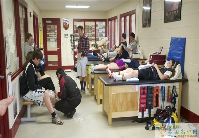 Tabor Academy-泰博中学-Tabor Academy的运动休息区