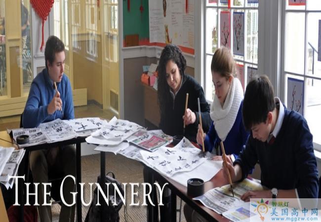 The Gunnery School-格纳瑞中学  -Gunnery School的学生在练习书法