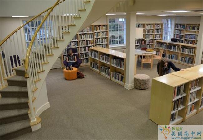 Chatham Hall-查塔姆霍尔女子中学-Chatham Hall的图书馆内