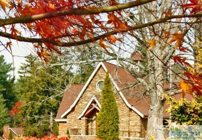 Christ School-基督男子中学-Christ School秋天的教堂