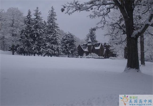 Hoosac School -湖沙克高中-Hoosac School的雪景