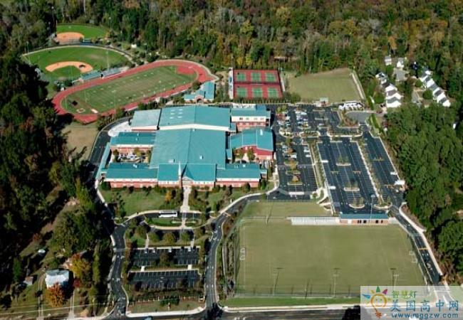 North Raleigh Christian Academy-北洛里中学-North Raleigh Christian Academy学校鸟瞰图