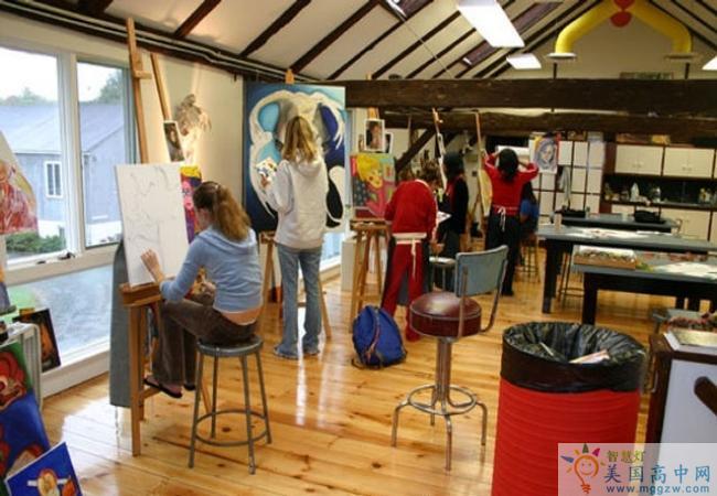 Purnell School-普奈尔女子高中 -Purnell School的艺术室