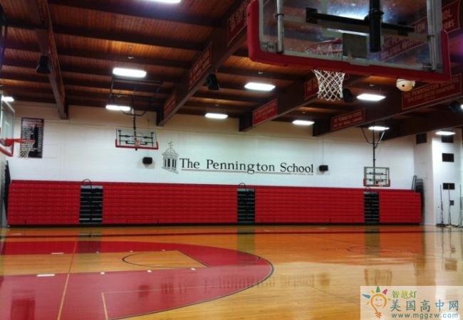 The Pennington School-潘宁顿中学-The Pennington School的室内篮球场